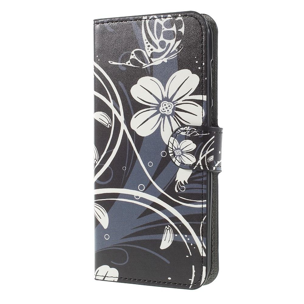 Billede af Huawei Mate 10 Lite PU læder Flipcover m. Kortholder - White Flower