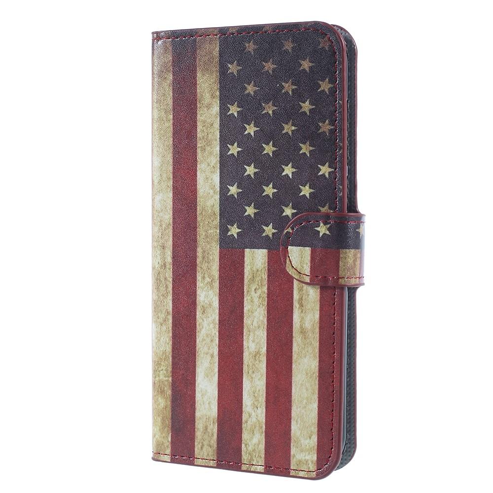Billede af Huawei Mate 10 Lite PU læder Flipcover m. Kortholder - US Flag