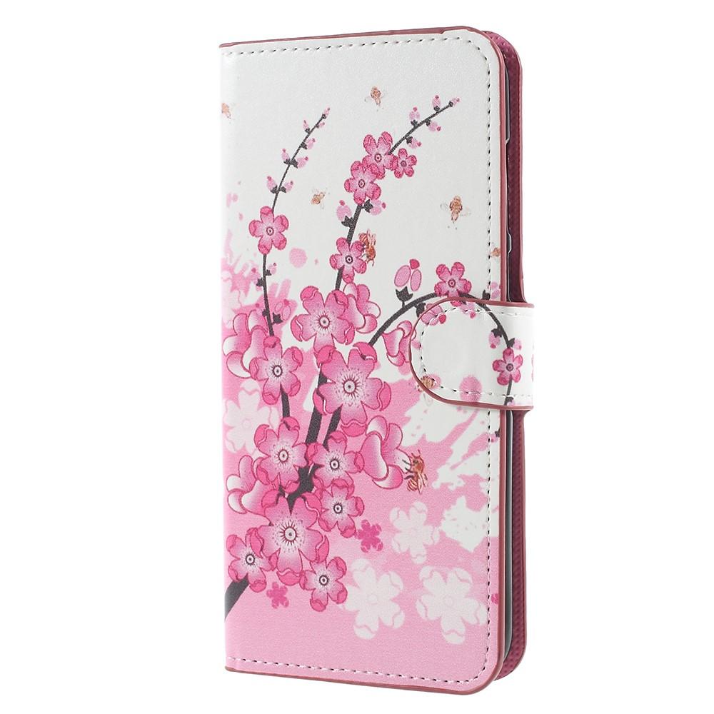 Billede af Huawei Mate 10 Lite PU læder Flipcover m. Kortholder - Plum Blossom
