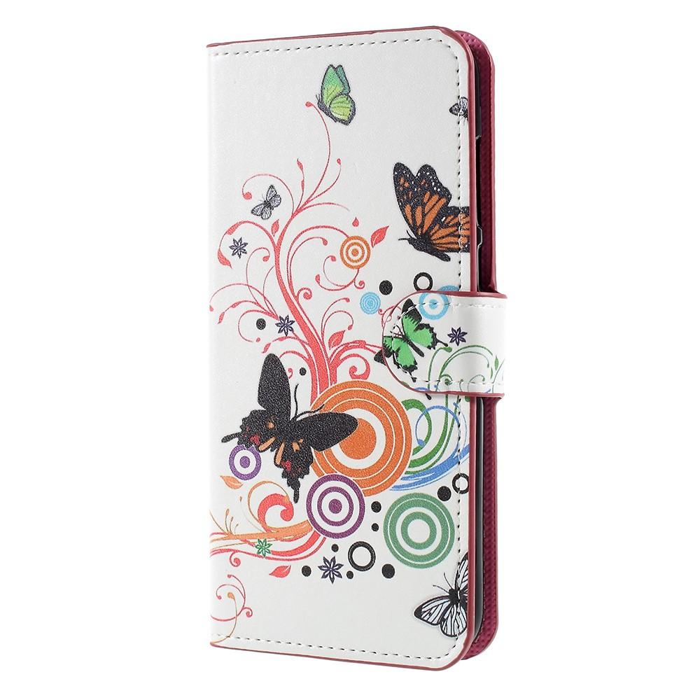 Billede af Huawei Mate 10 Lite PU læder Flipcover m. Kortholder - Butterfly and Flower