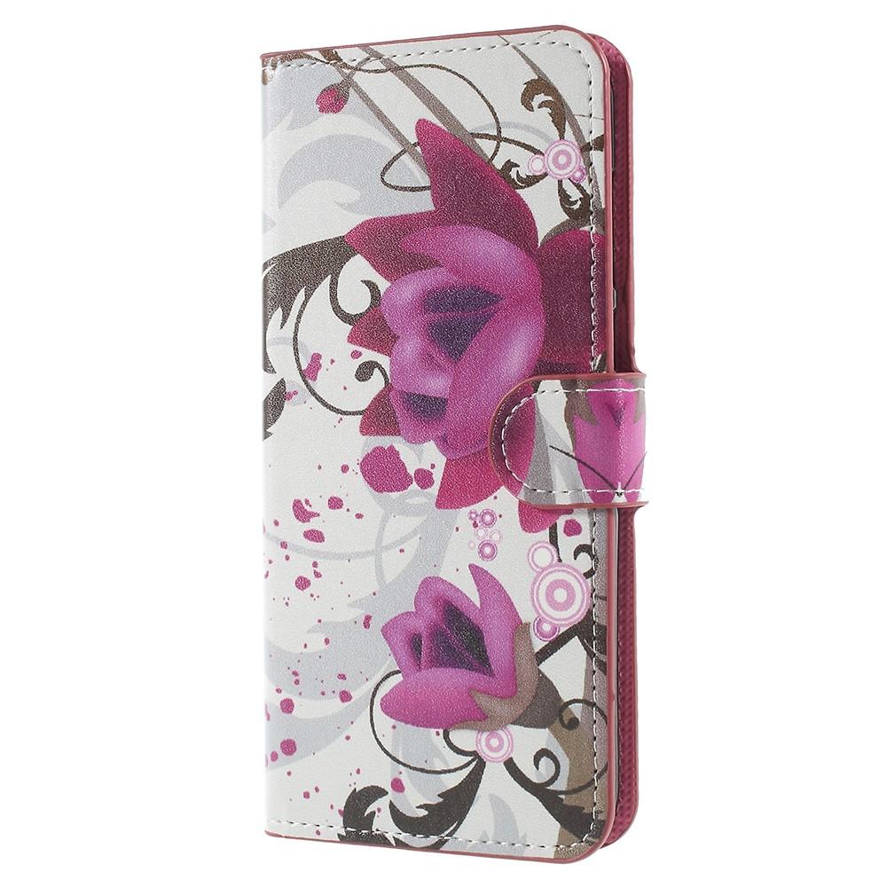 Billede af Huawei Mate 10 Lite PU læder Flipcover m. Kortholder - Purple Flower