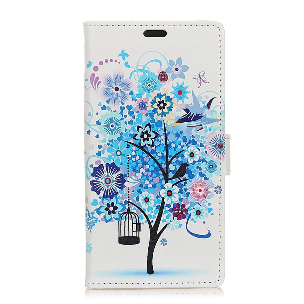 Billede af Huawei Mate 10 Lite PU læder Flipcover m. Kortholder - Blue Tree