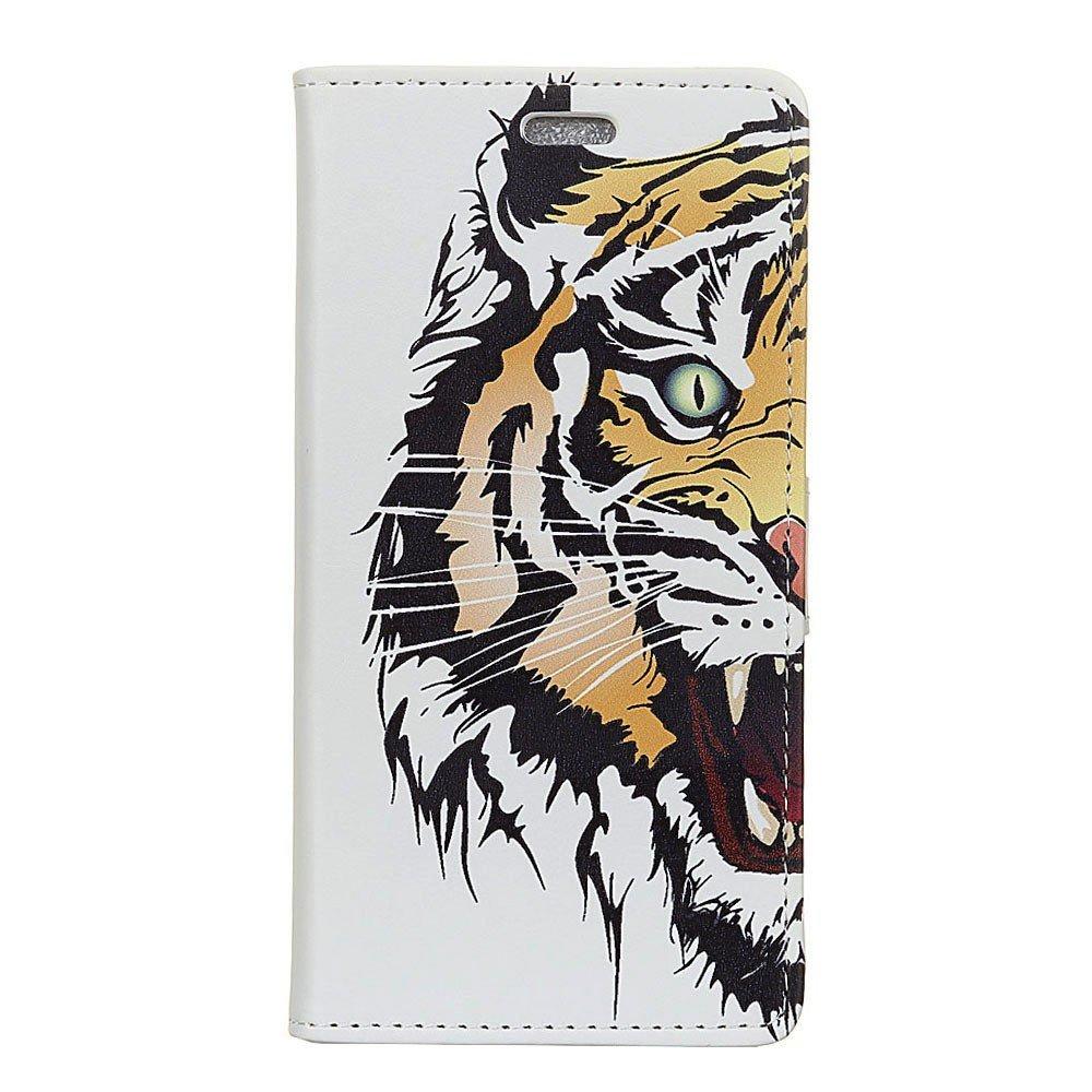 Billede af Huawei Mate 10 Lite PU læder Flipcover m. Kortholder - Tiger