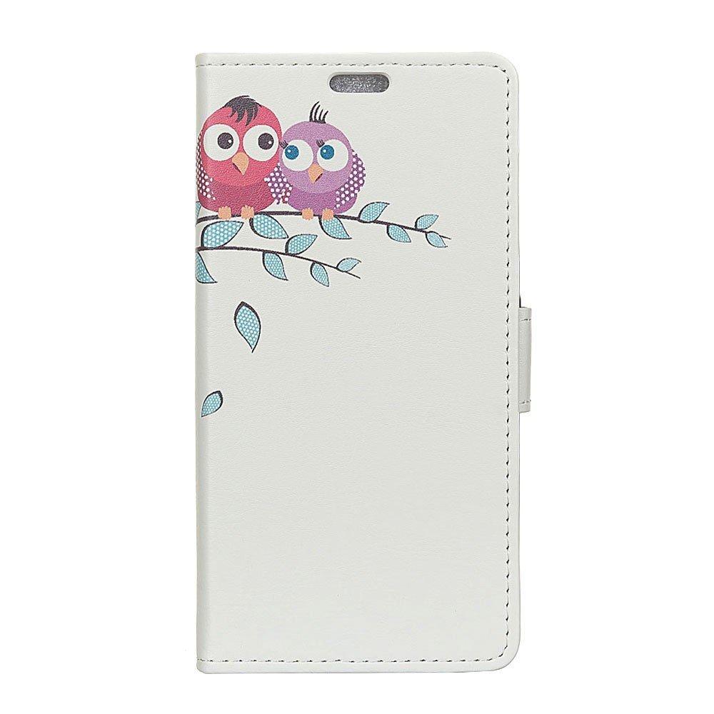 Billede af Huawei Mate 10 Lite PU læder Flipcover m. Kortholder - Owls
