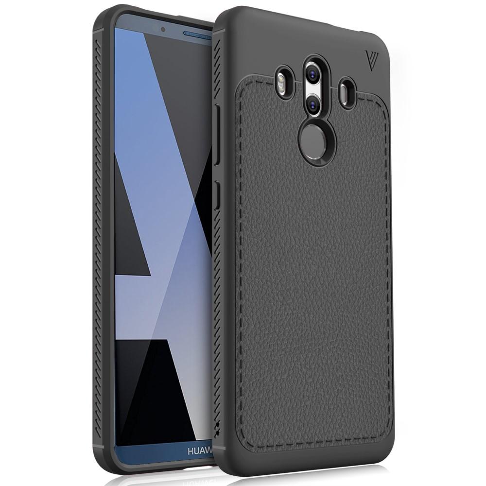 Billede af Huawei Mate 10 Pro IVSO TPU Cover Med Læderoverflade - Sort