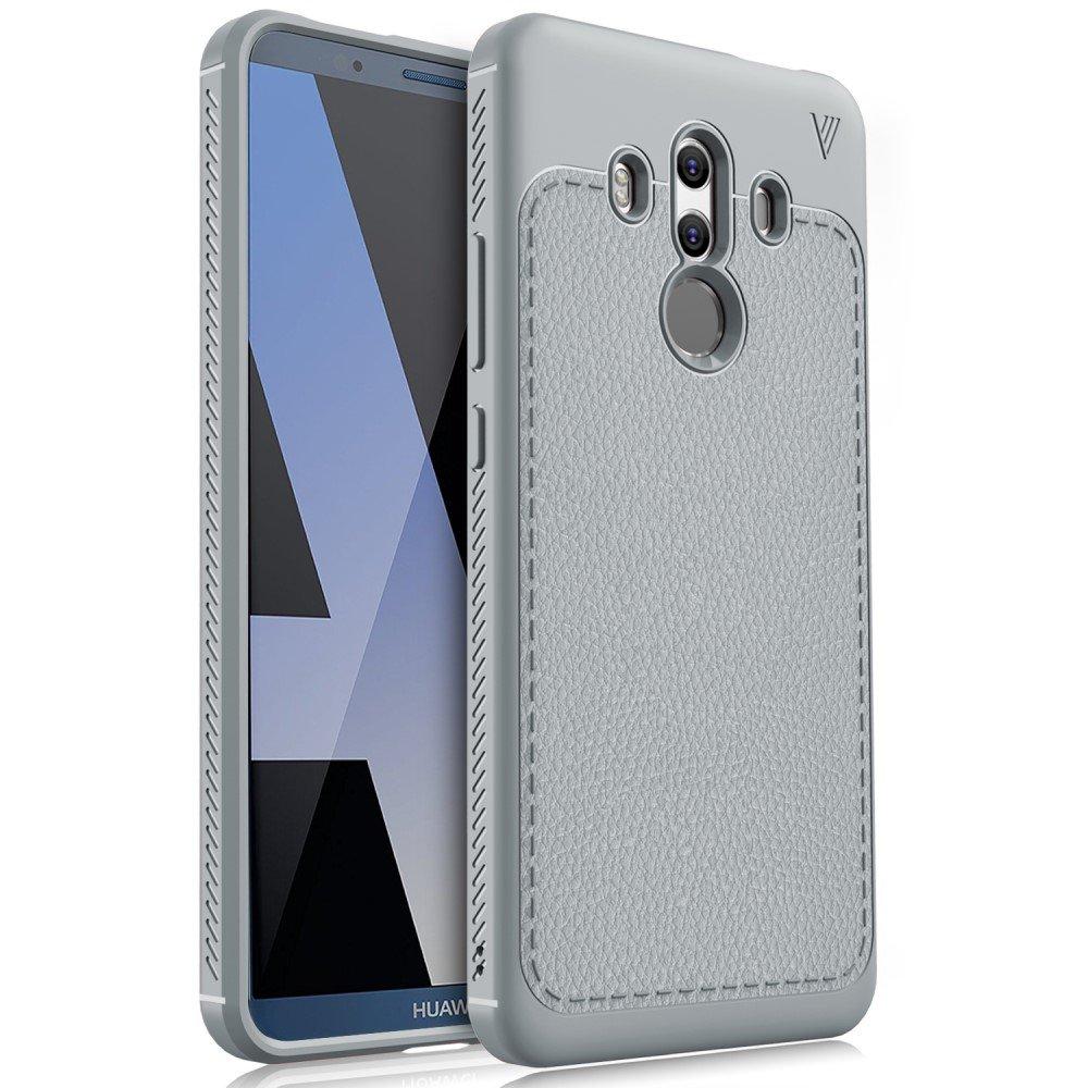 Billede af Huawei Mate 10 Pro IVSO TPU Cover Med Læderoverflade - Grå