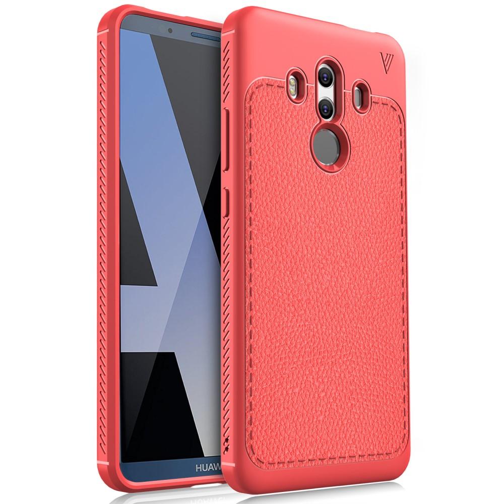 Billede af Huawei Mate 10 Pro IVSO TPU Cover Med Læderoverflade - Rød