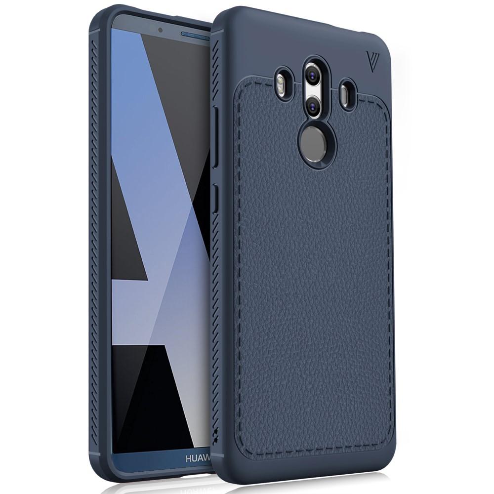 Billede af Huawei Mate 10 Pro IVSO TPU Cover Med Læderoverflade - Mørk Blå