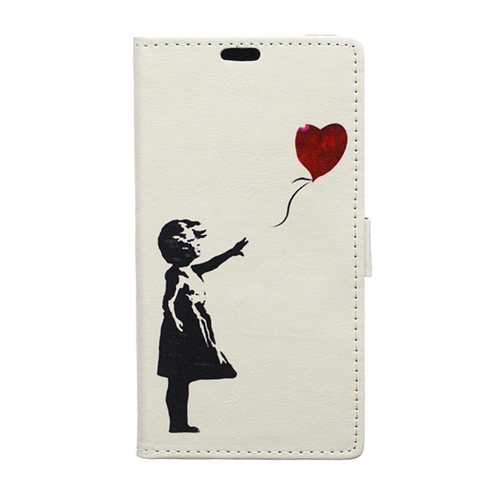 Billede af Huawei Mate 10 Pro Design Flip Cover med Pung - Girl with Balloon