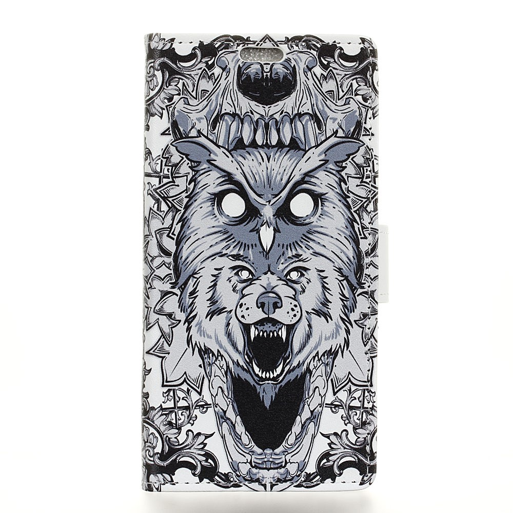 Image of Huawei Mate 10 Pro Design Flip Cover med Pung - Owl and Lion