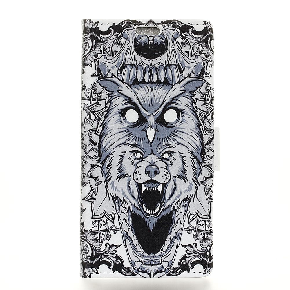 Billede af Huawei Mate 10 Pro Design Flip Cover med Pung - Owl and Lion