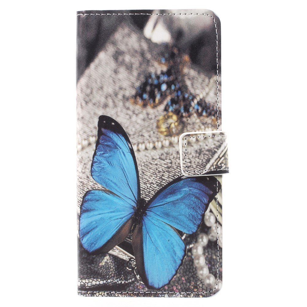 Image of Huawei Mate 10 Pro Design Flip Cover med Pung - Blue Butterfly
