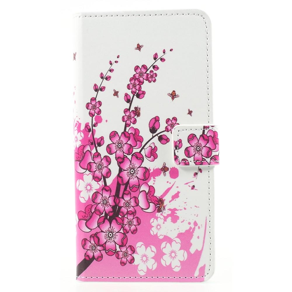 Billede af Huawei Mate 10 Pro Design Flip Cover med Pung - Plum Blossom
