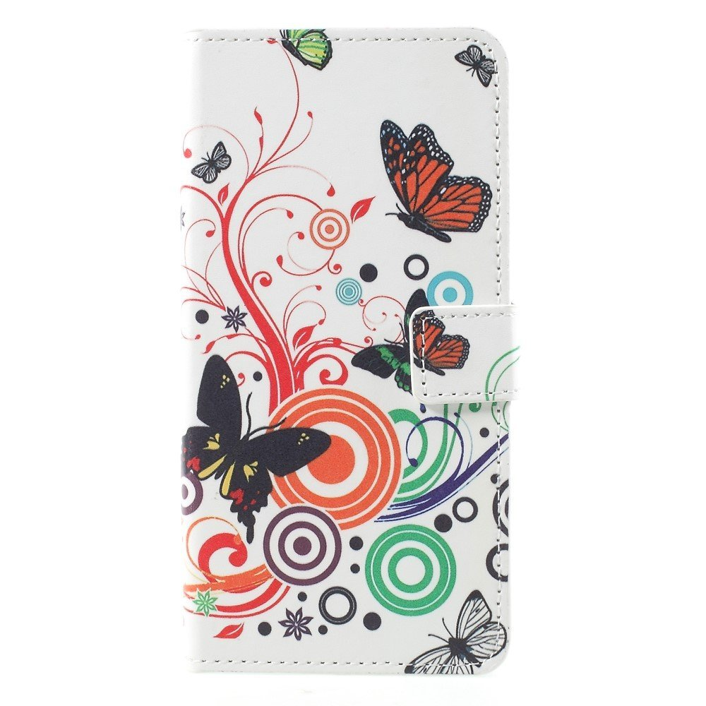 Image of Huawei Mate 10 Pro Design Flip Cover med Pung - Butterflies and Circles