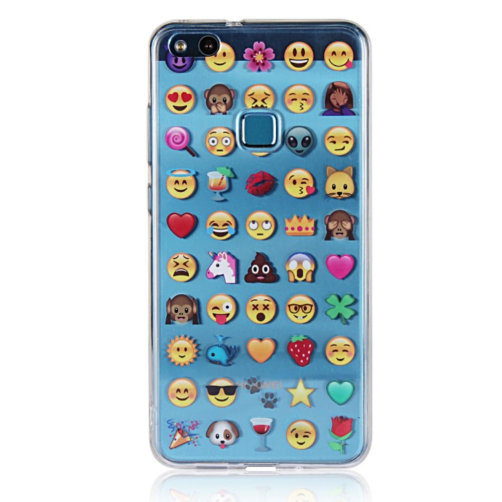Billede af Huawei P10 Lite inCover Design TPU Cover - Emoji