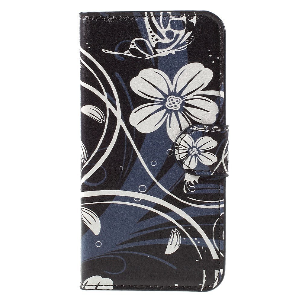 Image of Huawei Ascend Y560 Smart Flip Cover m. Stand - White Flowers