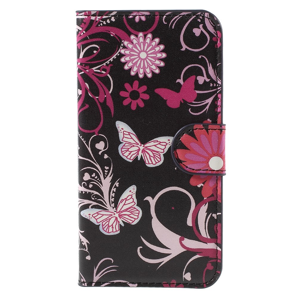 Image of Huawei Ascend Y560 Smart Flip Cover m. Stand - Butterfly Flowers