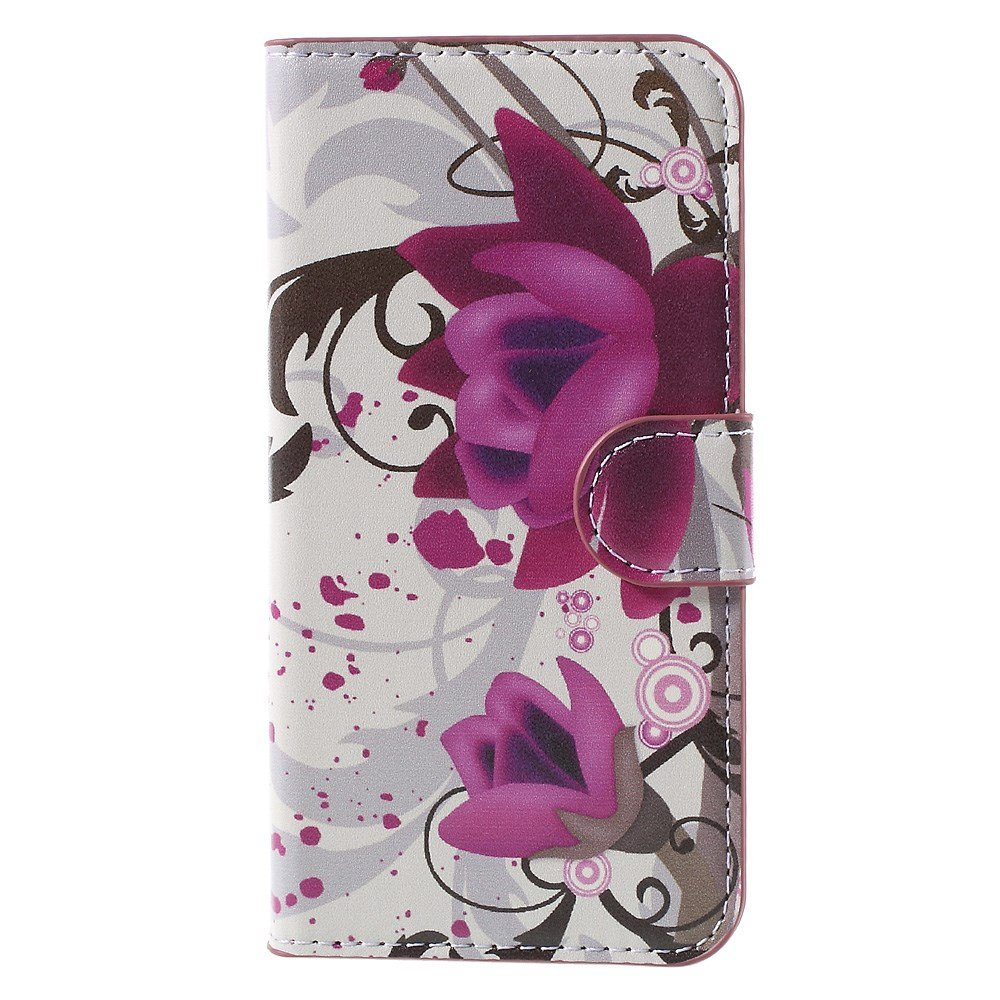 Image of Huawei Ascend Y560 Smart Flip Cover m. Stand - Purple Flowers