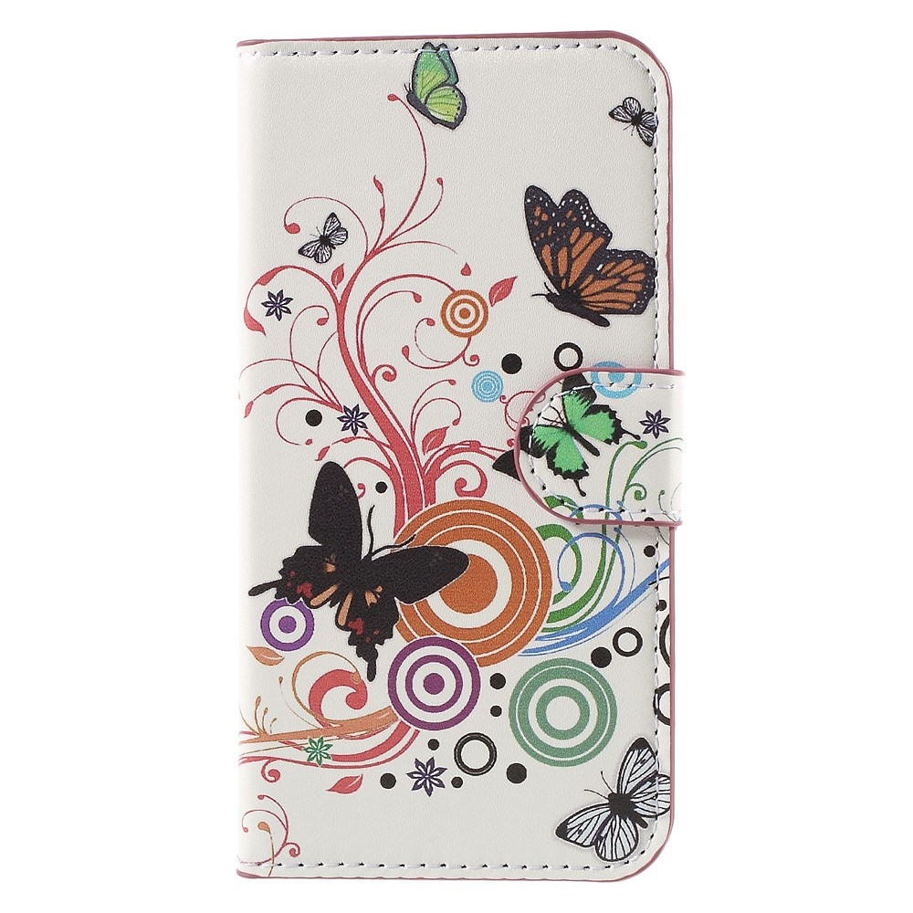 Image of Huawei Ascend Y560 Smart Flip Cover m. Stand - Butterfly Circles