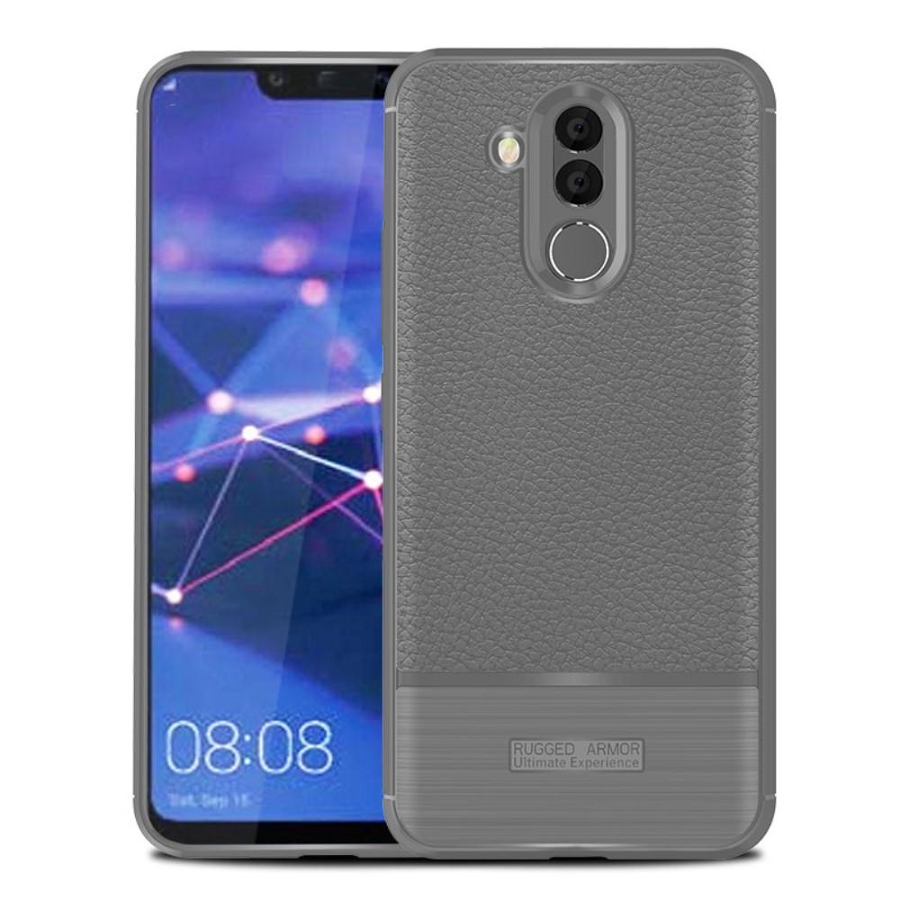 Huawei Mate 20 Lite Litchi TPU Cover - Grå