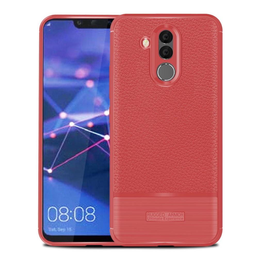 Huawei Mate 20 Lite Litchi TPU Cover - Rød