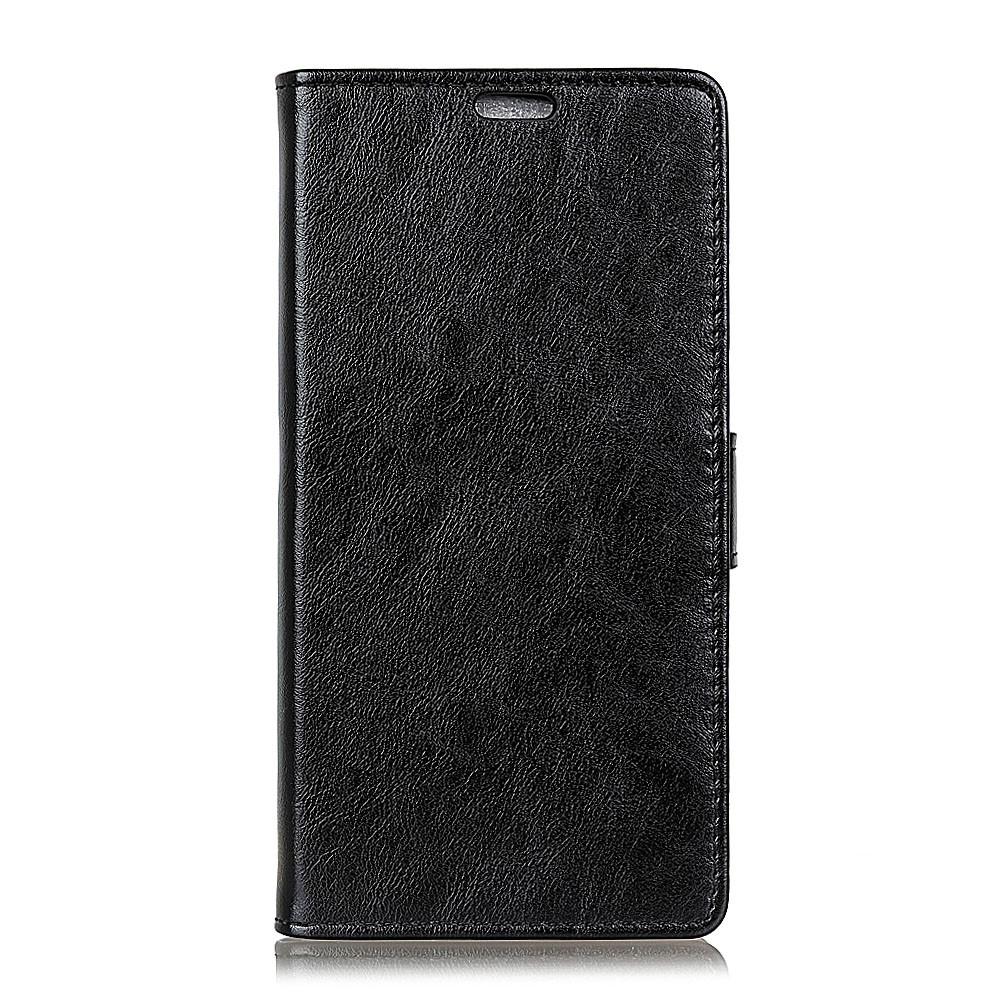 Huawei Mate 20 Lite PU Læder Flip Cover m. Stand og Kortholder - Sort