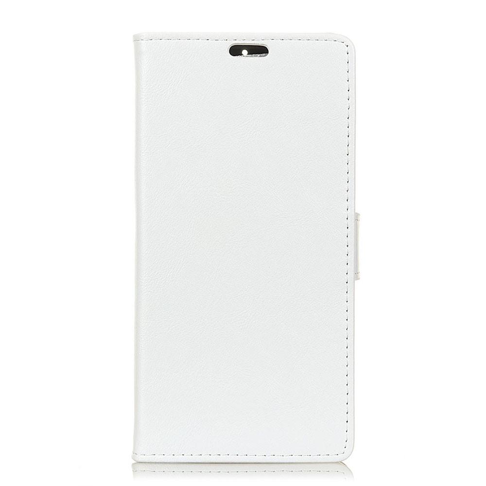 Huawei Mate 20 Lite PU Læder Flip Cover m. Stand og Kortholder - Hvid