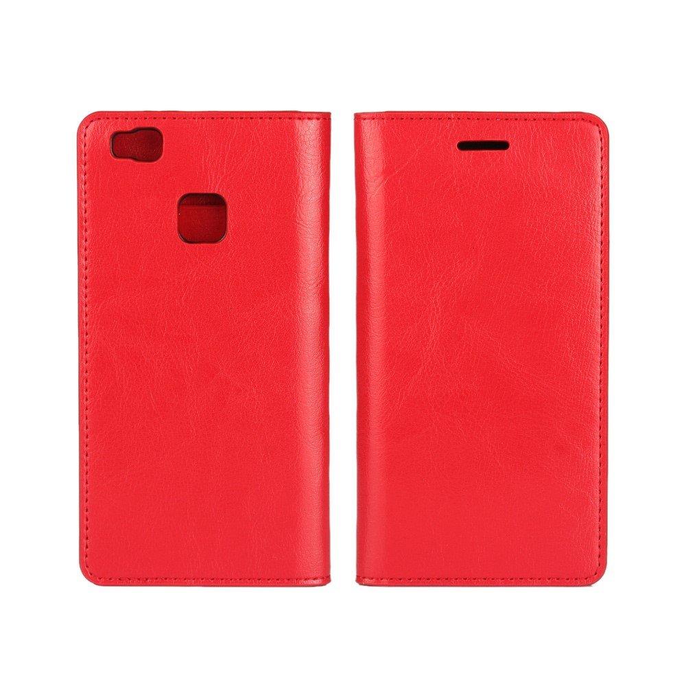Billede af Huawei P9 Lite FlipCover i Ægte Læder m. Kortholder - Rød