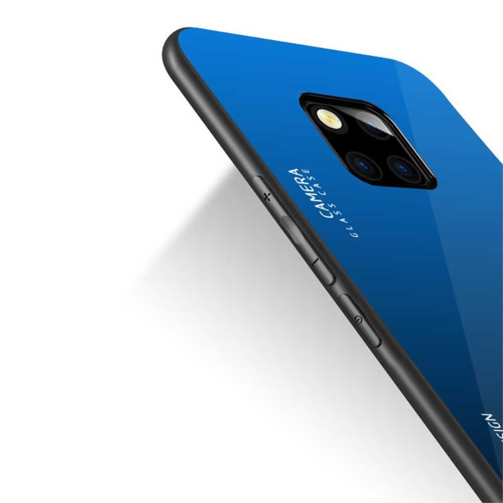 Image of   Huawei Mate 20 Pro Cover m. Glasbagside - Blå