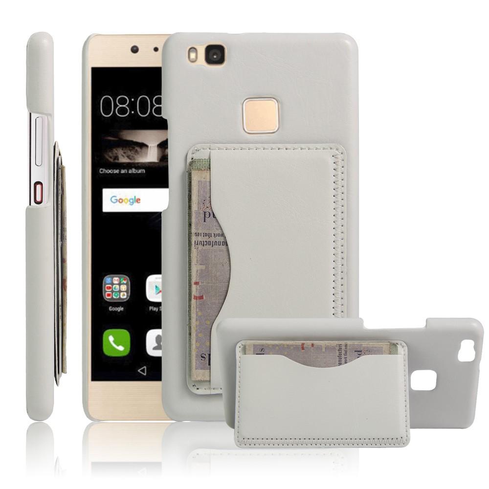 Billede af Huawei P9 Lite Læder Bagcover m. Stand - Hvid