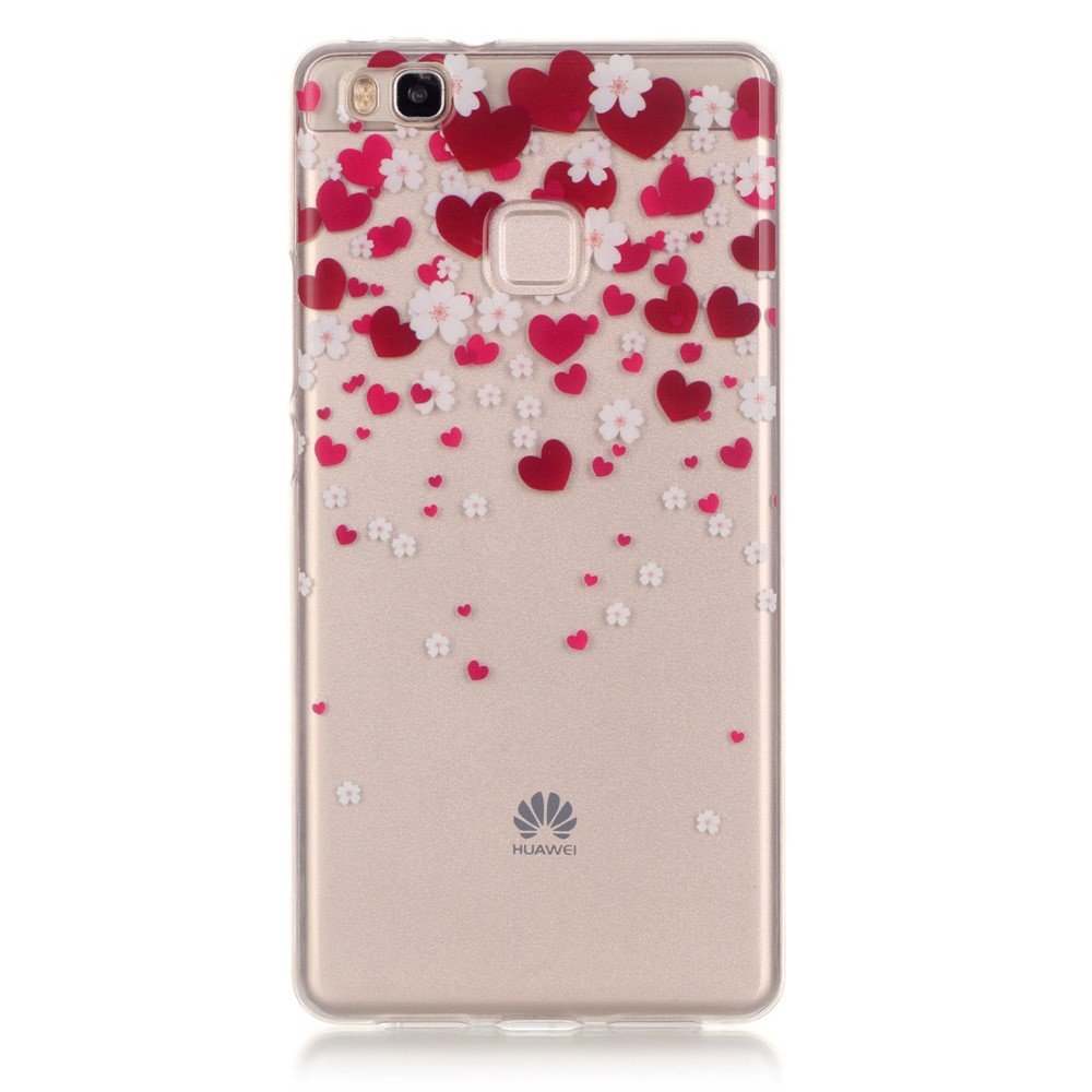 Billede af Huawei P9 Lite InCover TPU Cover - Red Hearts