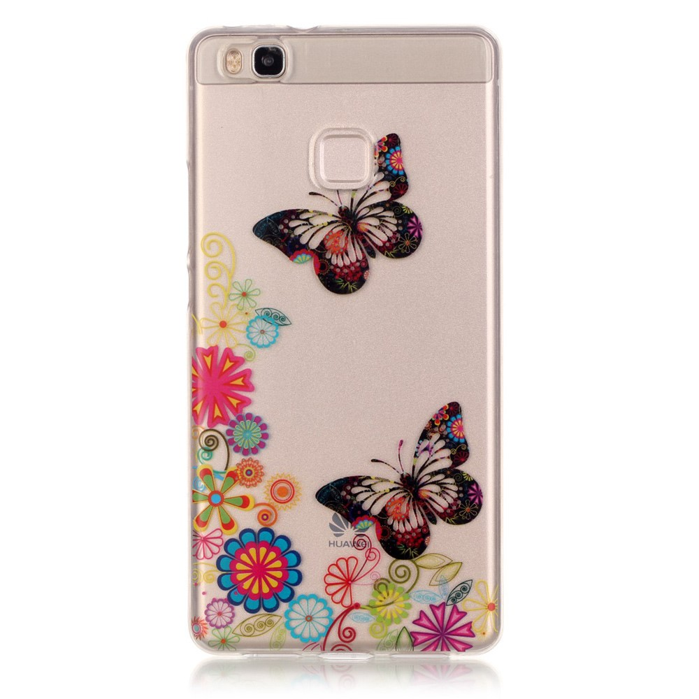 Billede af Huawei P9 Lite InCover TPU Cover - Butterfly and Flower