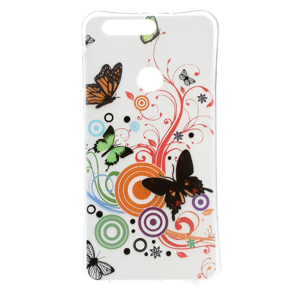 Billede af Huawei Honor 8 InCover TPU Cover - Butterfly and Flower