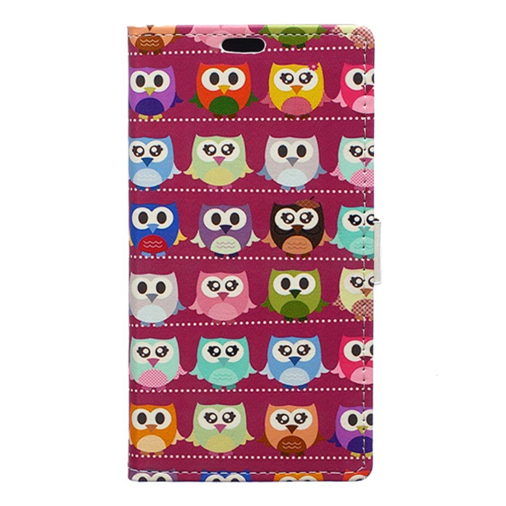 Billede af Huawei Honor 8 PU læder FlipCover m. Kortholder - Red Lovely Owls