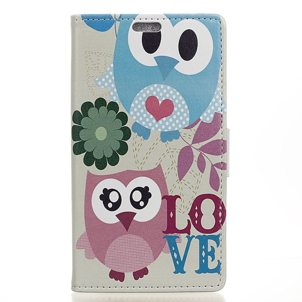 Huawei Honor 8 PU læder FlipCover m. Kortholder - Owl Lovers