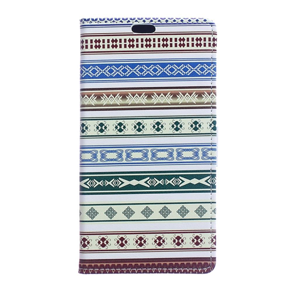 Billede af Huawei Honor 8 PU læder FlipCover m. Kortholder - Tribal Pattern
