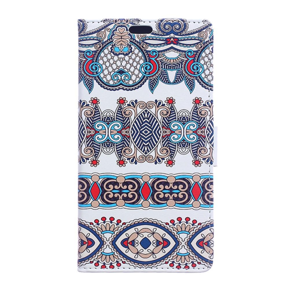 Billede af Huawei Honor 8 PU læder FlipCover m. Kortholder - Arabic Floral Pattern