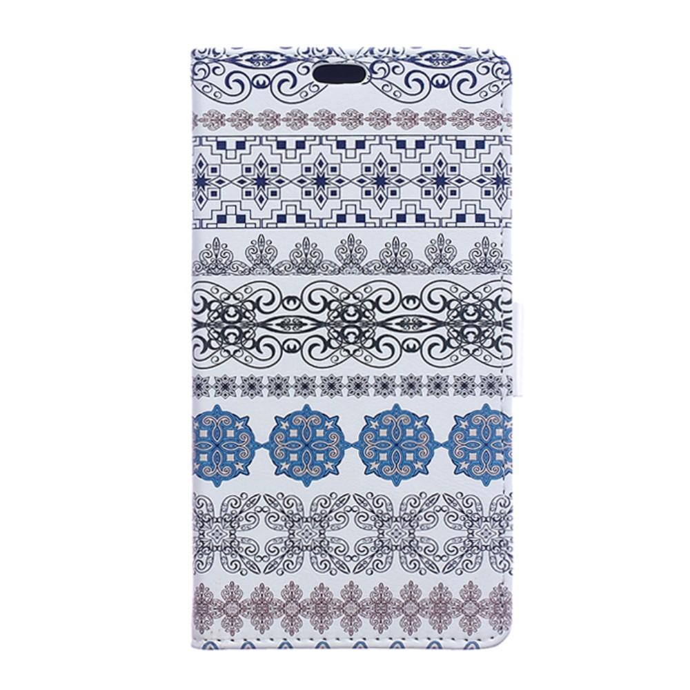 Billede af Huawei Honor 8 PU læder FlipCover m. Kortholder - Ethnic Flower