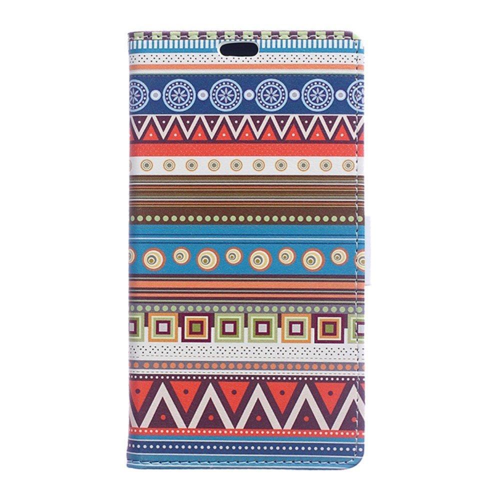 Billede af Huawei Honor 8 PU læder FlipCover m. Kortholder - Tribal Geometric Figure