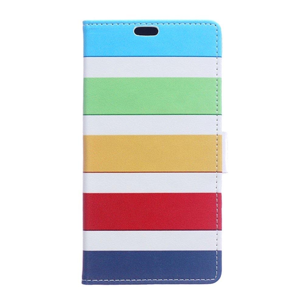 Billede af Huawei Honor 8 PU læder FlipCover m. Kortholder - Colorized Stripes
