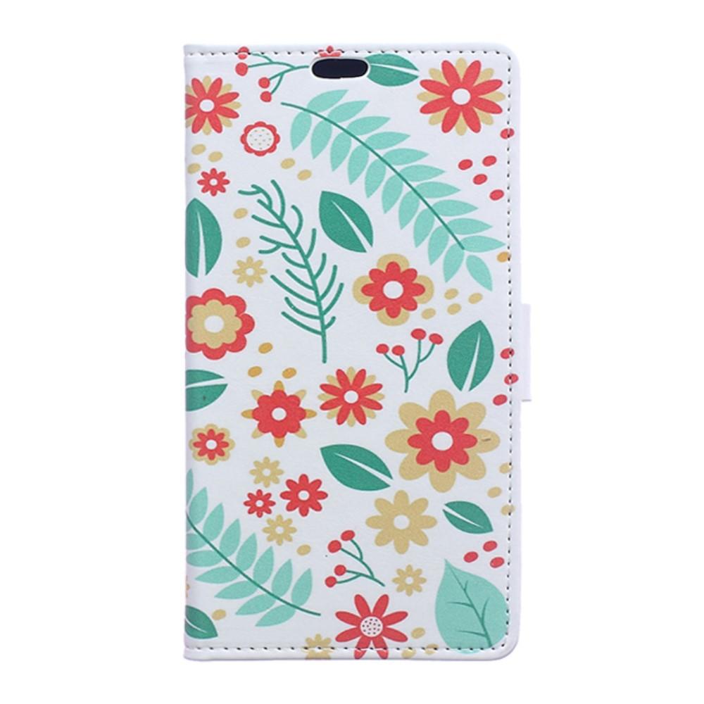 Billede af Huawei Honor 8 PU læder FlipCover m. Kortholder - Flowers and Leaves