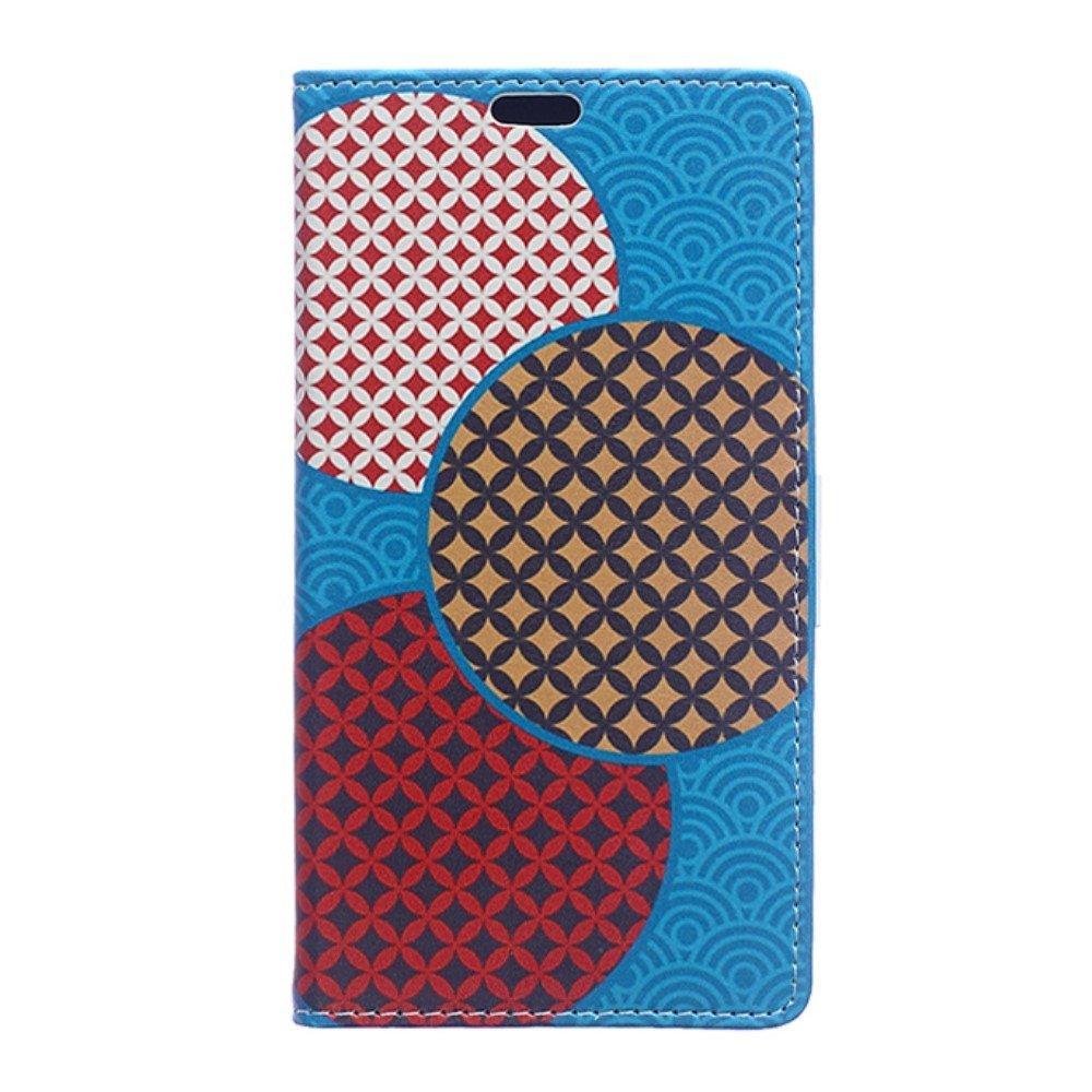 Billede af Huawei Honor 8 PU læder FlipCover m. Kortholder - Seamless Circles