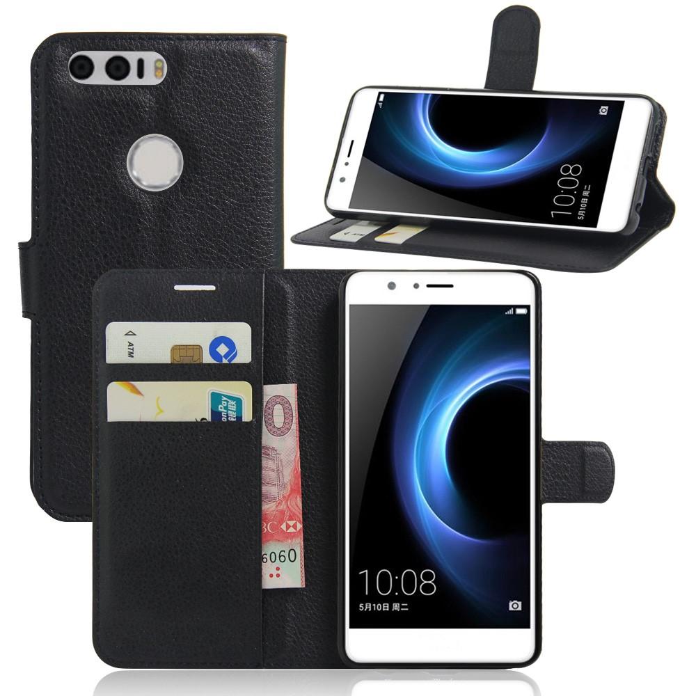 Billede af Huawei Honor 8 PU læder FlipCover m. Kortholder - Sort