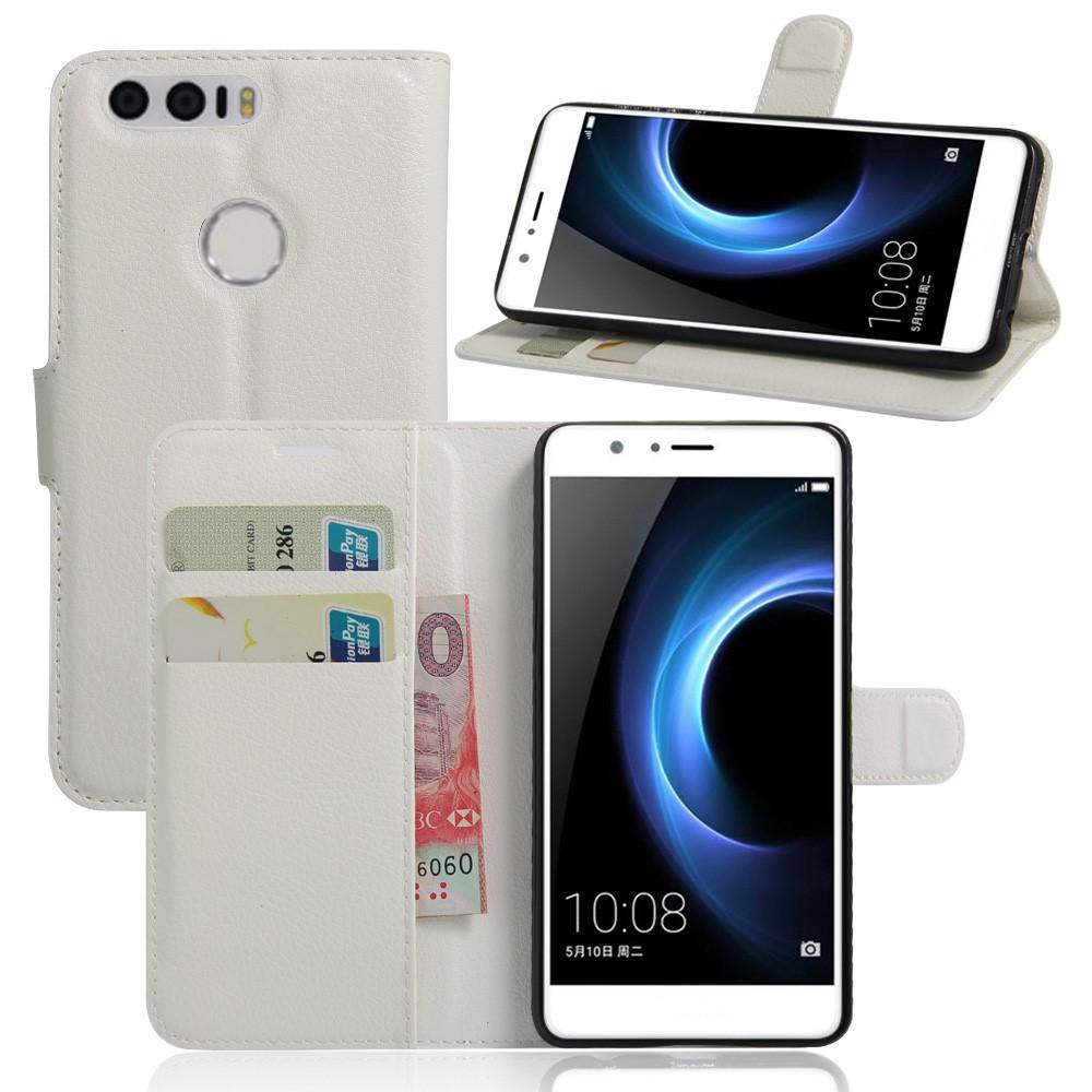 Billede af Huawei Honor 8 PU læder FlipCover m. Kortholder - Hvid