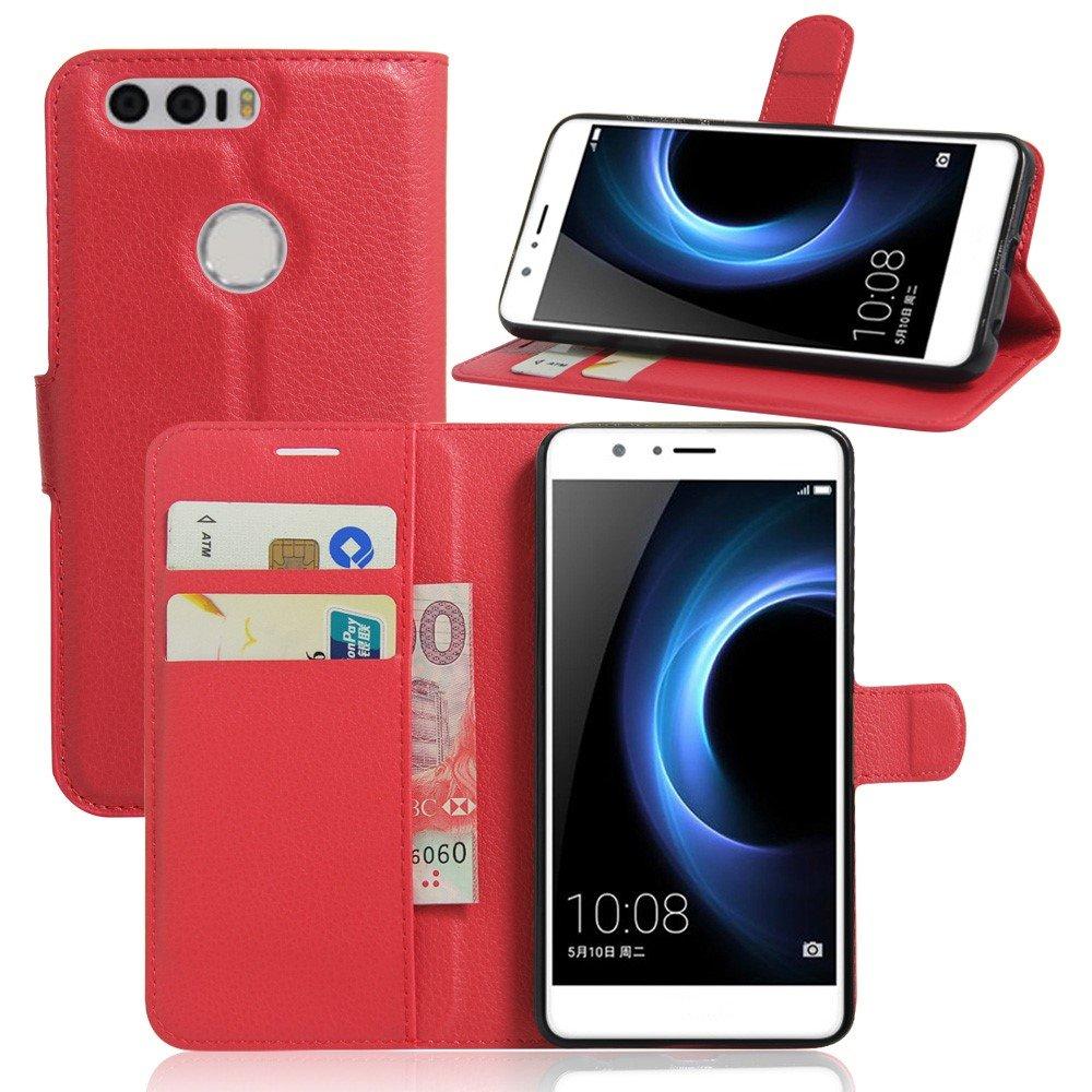 Billede af Huawei Honor 8 PU læder FlipCover m. Kortholder - Rød
