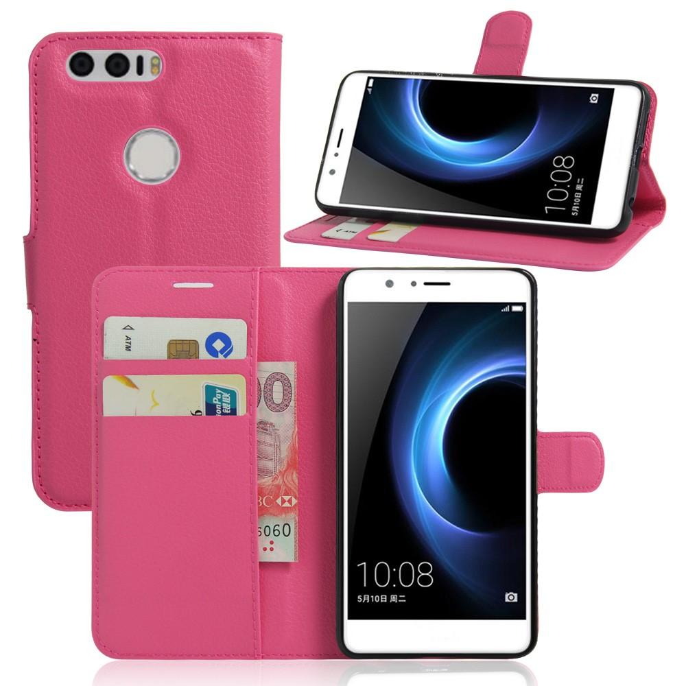 Billede af Huawei Honor 8 PU læder FlipCover m. Kortholder - Rosa