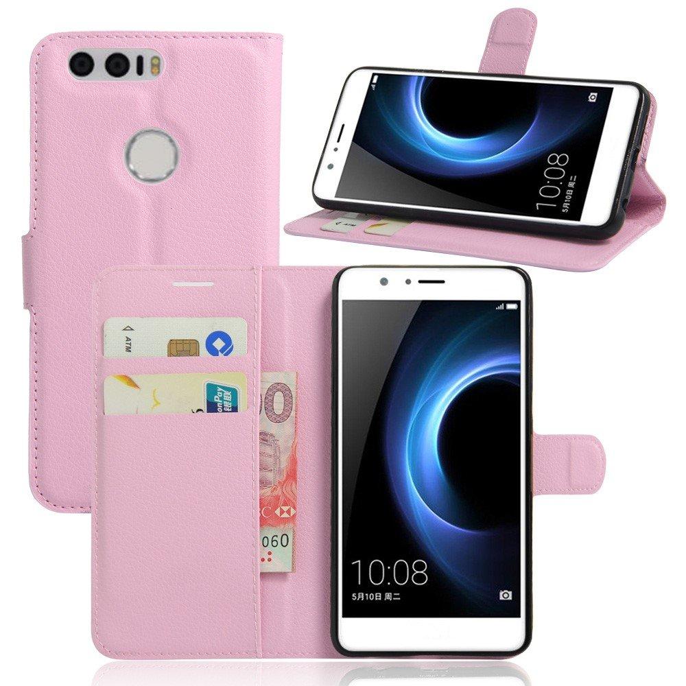 Billede af Huawei Honor 8 PU læder FlipCover m. Kortholder - Lyserød