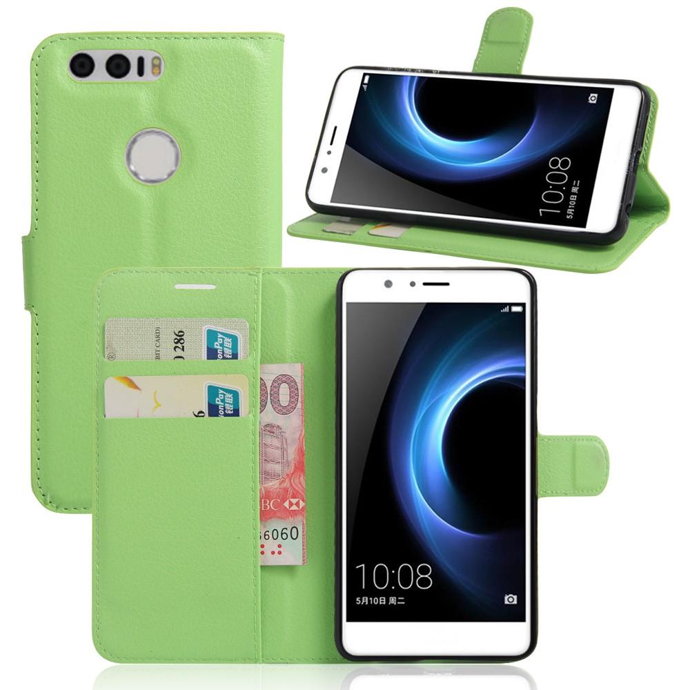 Billede af Huawei Honor 8 PU læder FlipCover m. Kortholder - Grøn