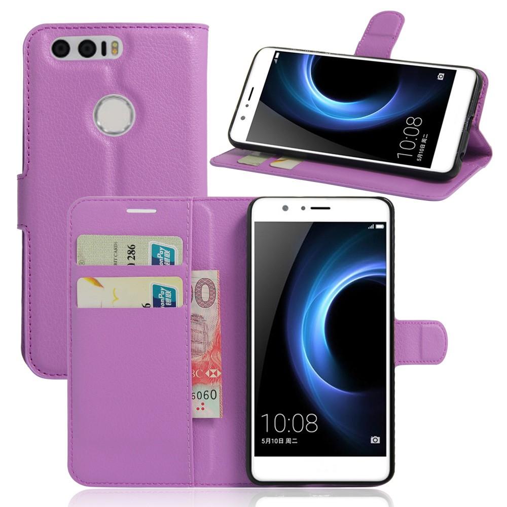 Billede af Huawei Honor 8 PU læder FlipCover m. Kortholder - Lilla