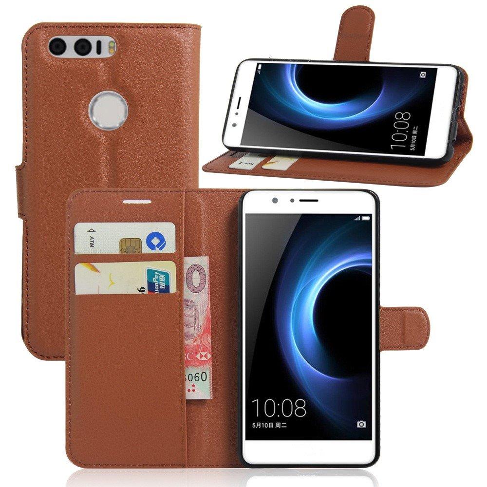 Billede af Huawei Honor 8 PU læder FlipCover m. Kortholder - Brun